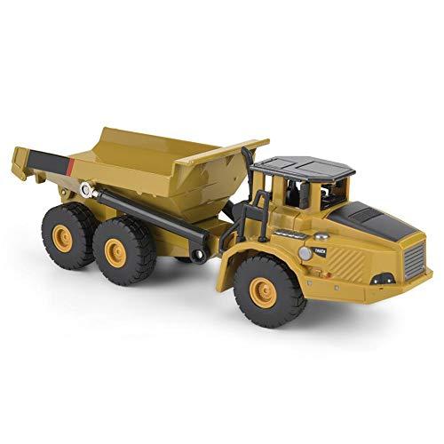 Qiterr 【𝐎𝐬𝐭𝐞𝐫𝐧】 Muldenkipper Modell, 1712 1:50 Legierung Muldenkipper Modell Engineering Konstruktion Auto Fahrzeug Spielzeug