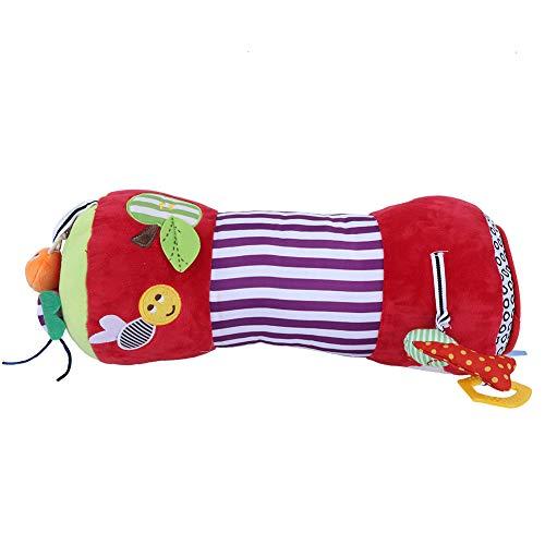 Tabpole Almohada con ruedas para bebés, juguetes para gatear para bebés, laberinto para principiantes, actividad de tiempo boca abajo para bebés, bebés, niños pequeños (rojo)