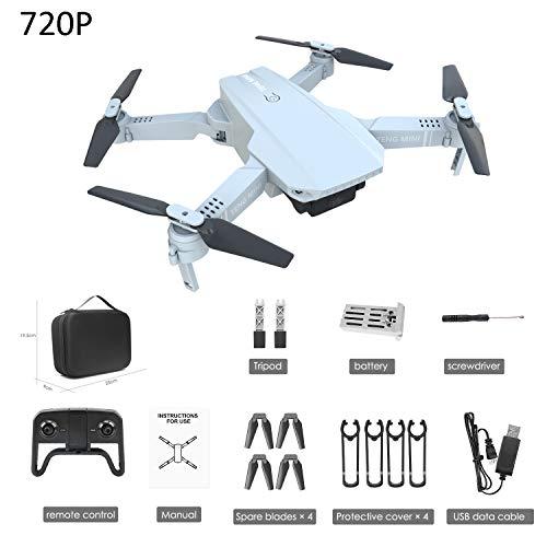 SBUNA RC Drohne Kamera Verstellbar Quadrocopter mit Längere Flugzeit Akkus für 15 Minuten, 720P HD-Videoübertragung FPV Faltdrohne Drohnen, Anfängerfreundliche für Kinder Anfänger