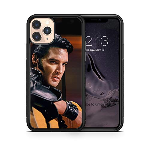 Elvis King of Rock and Roll case Compatible with iPhone 12 Pro Max Mini 11 XR X 7 8 Plus SE Samsung Galaxy S20 S10 S9 S10e Plus Note 9 10 20 Ultra Google Pixel 3 3a XL 4 TPU SN (iPhone 7/8/SE2020)