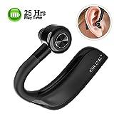 GRDE Manos Libres Bluetooth Auricular Inalámbricos Bluetooth Auricular Bluetooth In-Ear con 25 Horas de Tiempo de Conversación HD Micrófono Cancelación de Ruido para Smartphone
