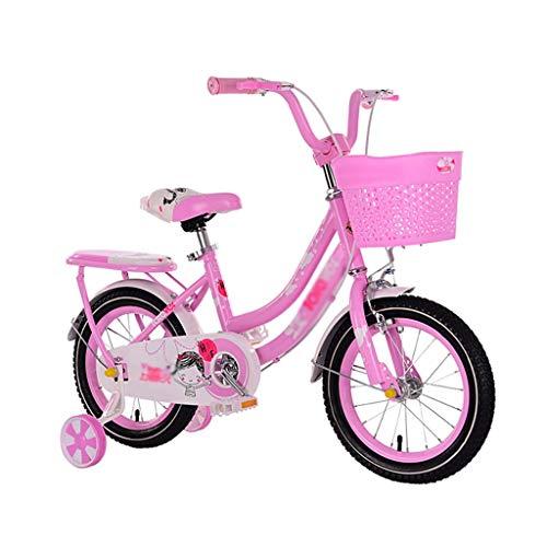 WJTMY Bicicletas for niños, Bicicletas niños w Ruedas/Formación y Cesta, 14' 16' y la Muchacha del Muchacho de Bicicletas, Regalo for los niños Bicicleta de Equilibrio niños