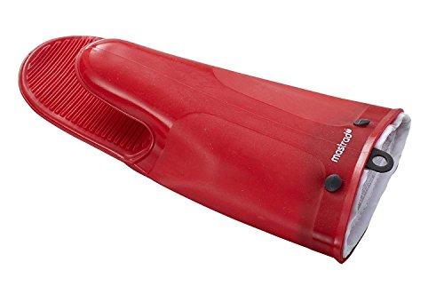 MASTRAD - Gant Silicone et Coton - Orka TEX - Rainures Anti-Dérapantes - Très Résistant - 30 cm - Rouge