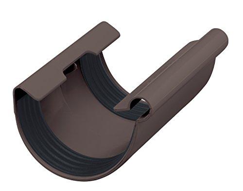 INEFA Rinnen-Verbindungsstück NW 100, halbrund Kunststoff, Regenrinne, Dachrinne