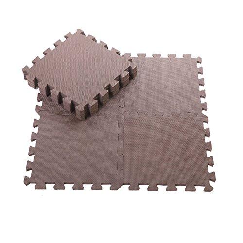 Steellwingsf 9 Stück Kinder-Schaumstoff-Spielmatte Spielmatte für Puzzle, Umweltschutz, Yoga, rutschfest, Kinderzimmer-Dekoration braun