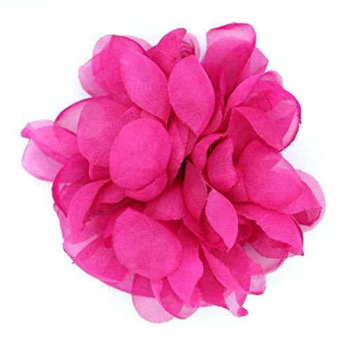Flore de tela con broche 'Clara'-Para decoración (Fucsia)
