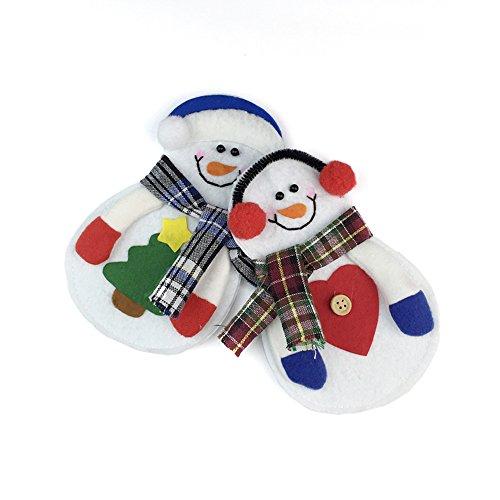 Imixcity® 2 Noël Noël Decor Snowman Cuisine Vaisselle Titulaire Dîner Coutellerie Sac