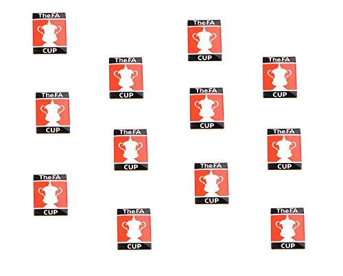 Toyland Packung mit 12-2cm FA Cup Mini Abzeichen - Football Premier League Merchandise