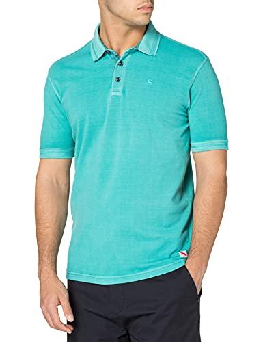 LERROS Herren Pique Poloshirt Polohemd, Mint Blue, M