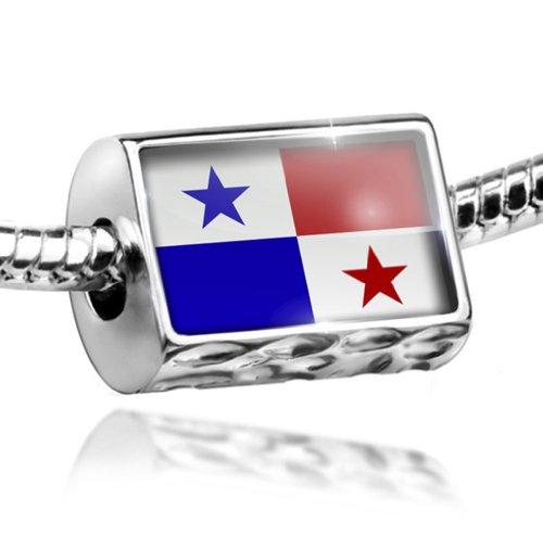 NEONBLOND Charm Panama Flag - Bead Fit All European Bracelets