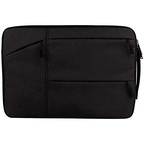 Hoogwaardige, multifunctionele tablet-hoezen van hoge kwaliteit, multifunctionele tas voor meerdere Wearable Oxford-weefsels, draagbaar, pocketveren, eenvoudige tas, tablet, voor 13,3 inch MacBook (Ner, Zwart