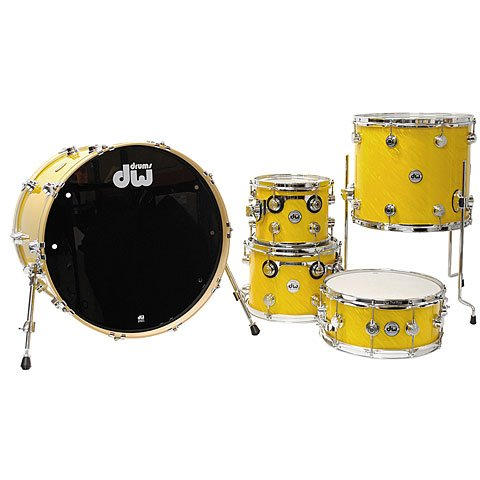 DW Collector´s Finish Ply Twisted Yellow · Schlagzeug