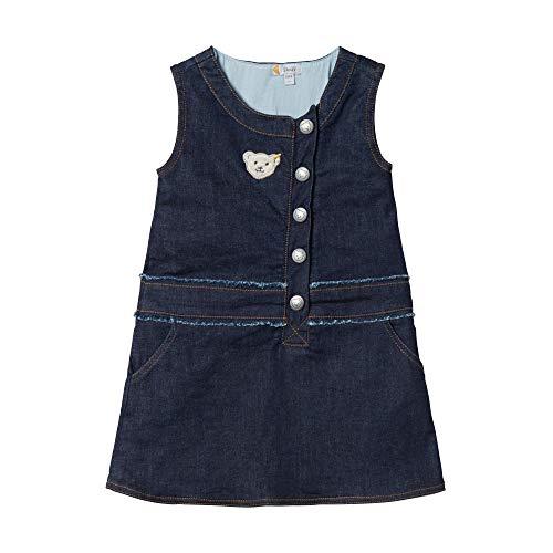 Steiff Baby-Mädchen Dress Kleid, Blau (ESTATE BLUE 6016), 86 (Herstellergröße:86)