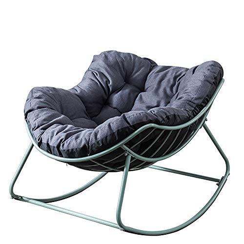 Rocking chair Leisure Rocking Chair Indoor Balcony Adult Children's Recliner Nap Lazy Chair Leisure rocking chair (Color : Cyan, Size : M)