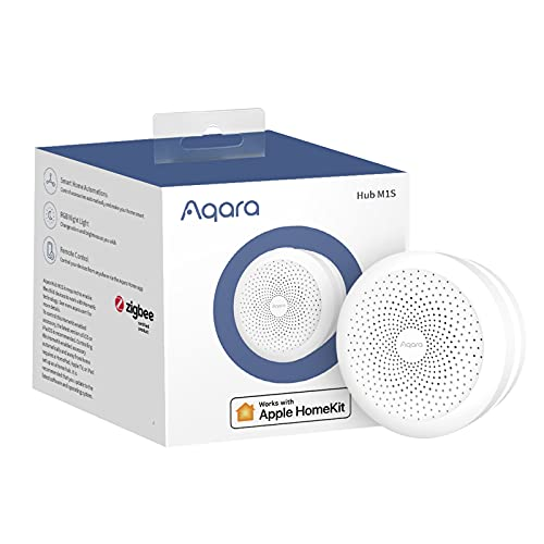 Aqara M1S Smart Hub, Wireless Smart Home Bridge for Alarm System, Home Automation, Remote Monitor and Control, Supports Apple Siri, Alexa, Google Assistant, Apple HomeKit and IFTTT