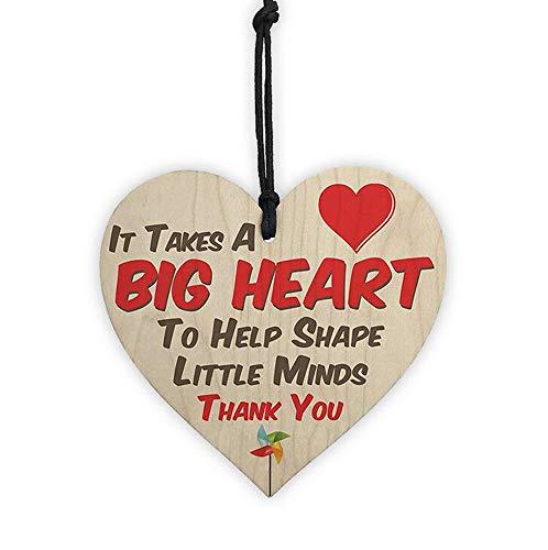 MoYouno Letrero de placa con forma de corazón colgante de madera, inspiración para los mejores amigos, regalo de ánimo, regalo de amistad, 10 x 10 cm