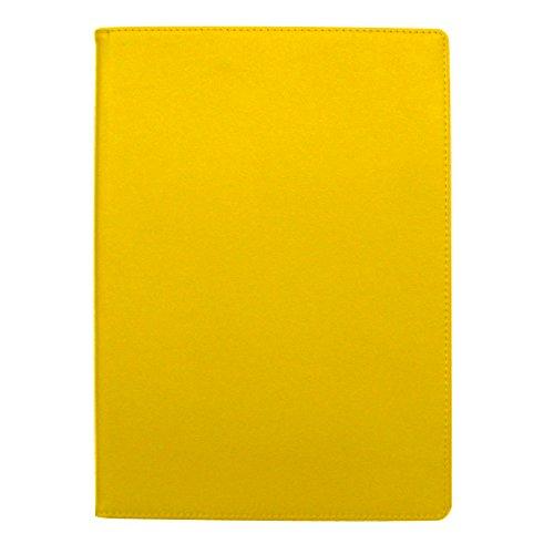 手帳カバー A5 イエロー ノートカバー ブックカバー 無地 横開き 合皮 手帳式 PUレザー