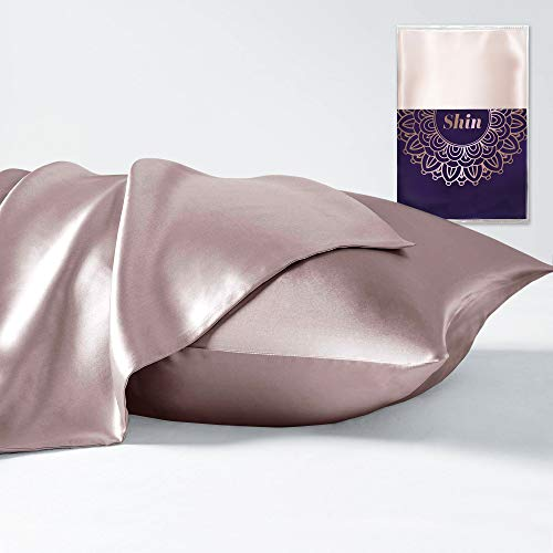 100% Pure Mulberry Silk Pillowcase for Hair and Skin | Hypoallergenic Antibacterial with Hidden Zipper | Premium 25 Momme Worm Silk Pillowcase 1 Pack (King 20x36 Pink)