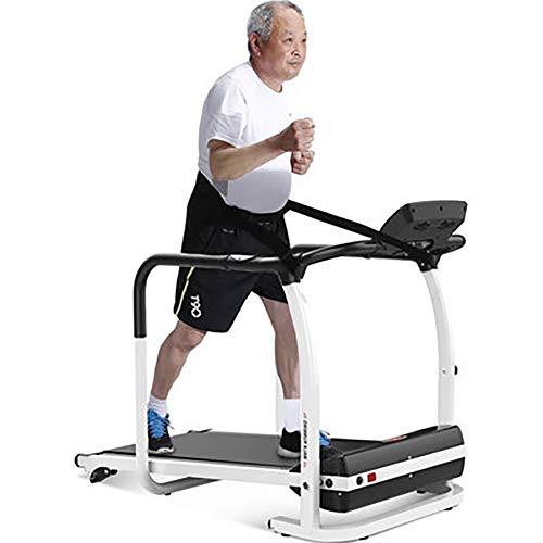JEANMISS Cintas De Correr para Personas De Mediana Edad Y Ancianos Rehabilitación Plegable Eléctrico Silencioso Pasamanos Largo Motor 2.0HP Equipo De Gimnasia Máquina para Caminar,Negro