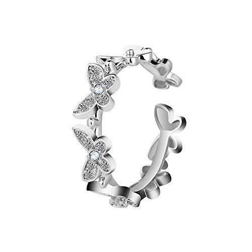 Huaduo Anillo de mariposa 2021 para danza, anillo de mariposa ajustable, para mujeres y niñas, joya de boda, para el Día de la Madre