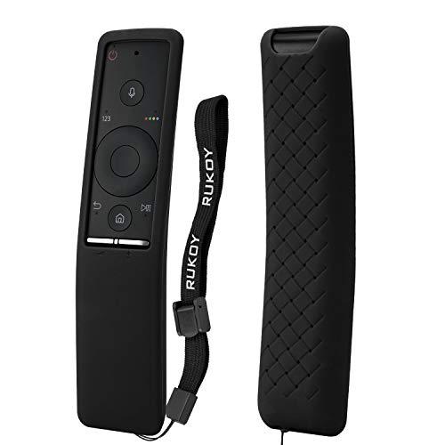 Rukoy Funda protectora de Silicona Compatible Para Samsung Smart TV control remoto de BN59-01241A/BN59-01242A/BN59-01260A, Anti-Slip Amigable para los niños Anti-perdida con correa mano