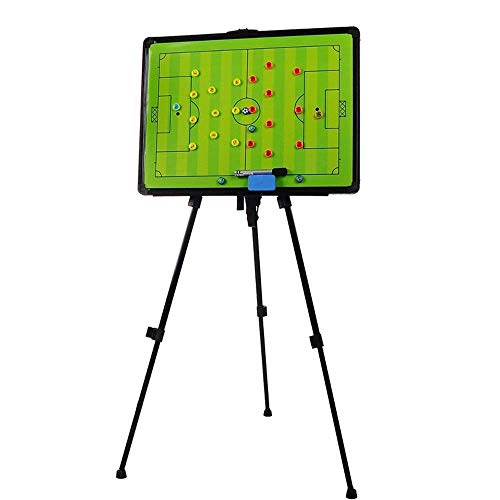 Haploon Soccer Coaching Board, Big Tri-pod Football Tactic Board, Strategy Game Plan White Board Clipboard, Huge Size Training Equipment with Tripod Stand and Carrying Bag