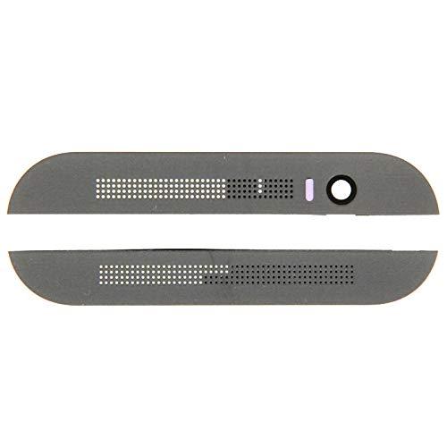JIAHENG Neue Ersatzteile Obere obere Oberseite + untere untere Glaslinsenabdeckung & Klebstoff for HTC One M8 (grau) Smartphone-Flexkabel (Farbe : Grey)