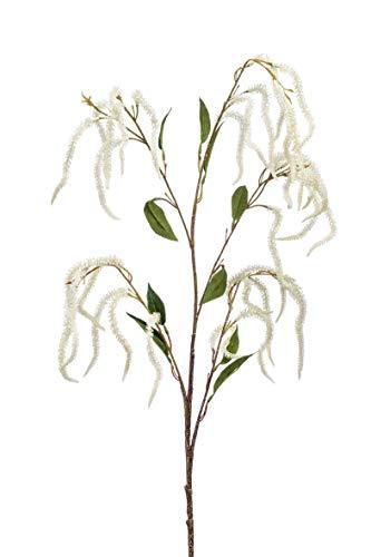 artplants.de Kunstzweig Amaranthus Zweig Maule, Creme, 100cm - Textil Amaranth