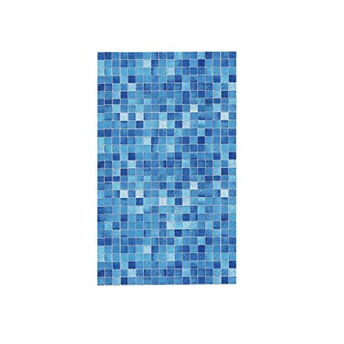 Harpily Selbstklebende Fliesen Selbstklebende 3D Blau Mosaik Fliesenaufkleber Mosaikfliesen Aufkleber KüChe Backsplash Bad Wandfliesen Dekor wasserdichte PVC 45X100CM