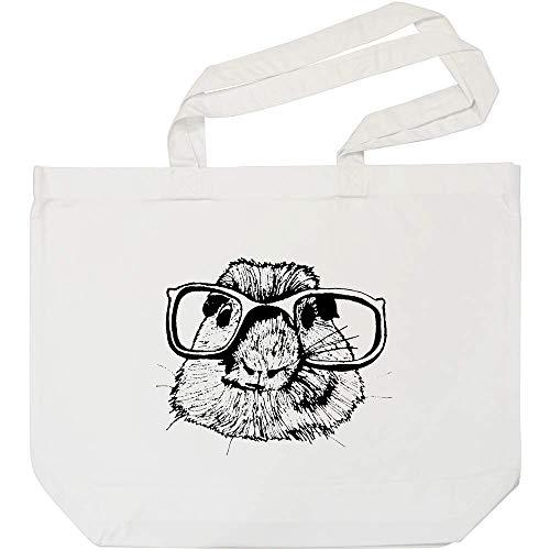 Azeeda 'Maulwurf mit Brille' Weiße Einkaufstasche (BG00000725)