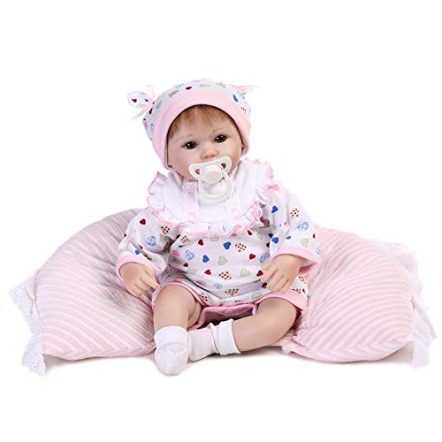 Nicery 18-Inch Reborn Baby With Soft Simulation Silicone Vinyl