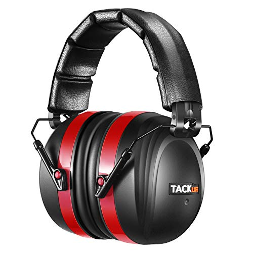 TACKLIFE Hearing Protection, SNR 34dB Noise Cancelling Ear Muffs for Kids Adults, Foldable Comfortable Ear Protection for Gun Range, Hunting, Sports Events, Lawn Mower, Work, Studying, Autism, HNRE1