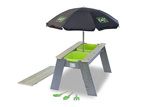 EXIT Aksent Sand- und Wassertisch L mit Sonnenschirm und Schippen