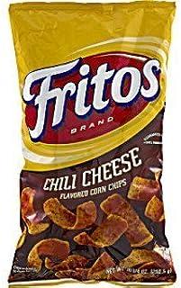 Frito Lay, Fritos Brand, Chili Cheese Corn Chips, 9.75oz Bag (Pack of 4)