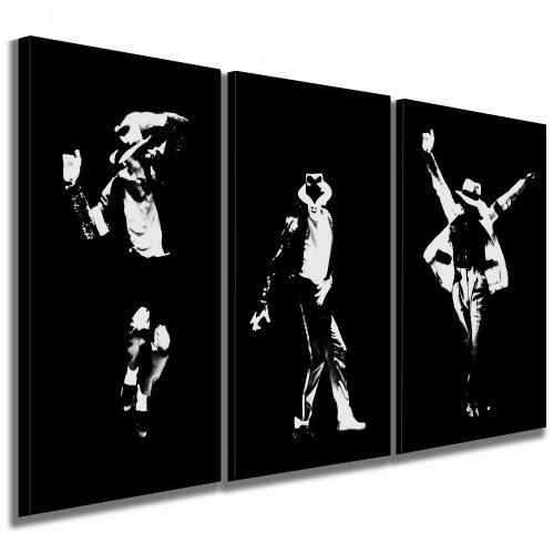 fotoleinwand24 'Michael Jackson 3foto 120x 60cm K. poster su tela già montato su telaio/quadri su tela, quadri, Poster, Pop Art pittura, Arte–Decorazione Immagini