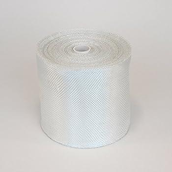 Fiberglass Cloth Tape - Plain Weave Glass Fiber Joint Tape - Reinforcement Waterproof Heat Resistance Insulation E-Glass 6 oz 4  Wide by 50 Yards