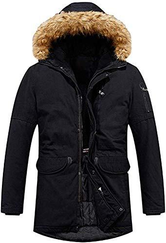 WANGXIAO Mannen Jassen, Gewatteerde Parker Jas Casual Winter Effen Eenvoudige Warme Rits Lange Mouw Hooded Winter Jas Bovenkleding Tops Katoen.