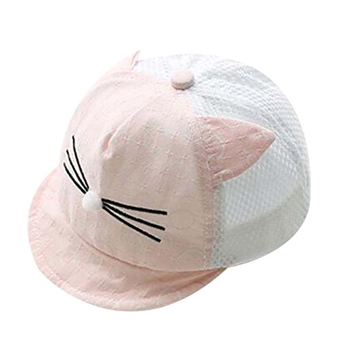 Pink Lovely Sunhat Grand cadeau chapeau de plage pliable Chapeau d'été Bonnet de coton Bonnet de béb