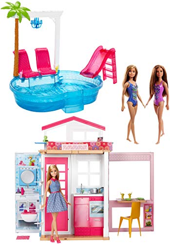 Barbie fxn66 Big Box buildup Pool Party, Azul