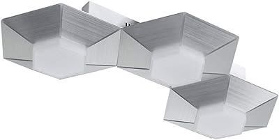 WOFI - Lámpara de pared, aluminio, 1., Aluminium gebürstet