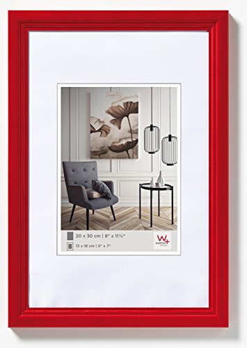 walther design HY040R Living Holzrahmen, rot, 30 x 40 cm