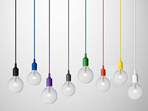 Cozyle Ciondolo silicone Semplice colorati appesi luce bianca