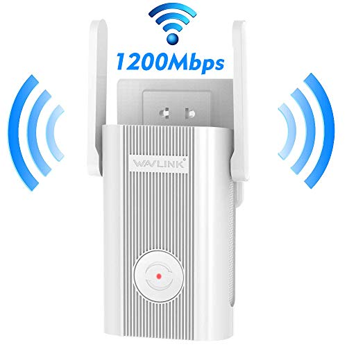 AC1200 WiF Booster for Home, Wireless Repeater up to 1200Mbps 2.4 + 5Ghz Dual Band,High Speed WiFi Extender 1200 Mbps with WPS Internet Signal Booster