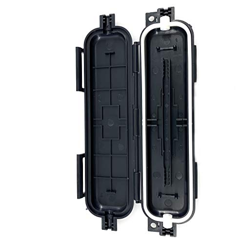 L-Yune, Caja 10pcs Protector de Fibra FTTH Cable de Bajada Tubo Impermeable...