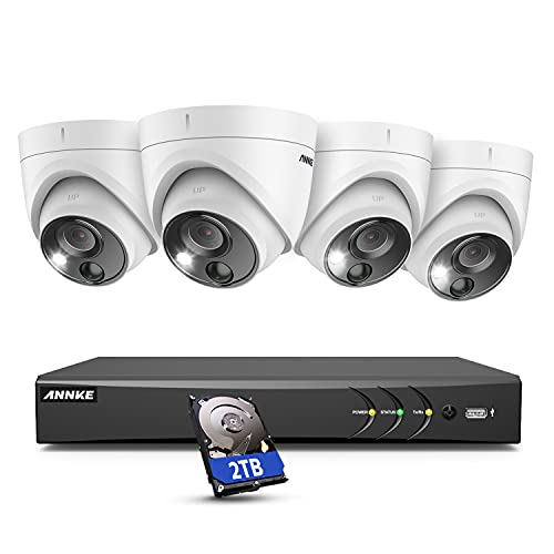 ANNKE PIR CCTV Camera System, 8 Channel 4K/8MP DVR with 2TB HDD and 4pcs...