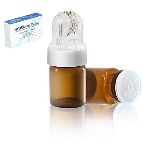 Dermaroller 0.5mm- 150 ECHTE NADELN Koi Beauty Professionelles Microneedling Gerät Titan für Bart, Haare, Gesichts, Derma Roller für Falten und Narben Inkl. 1 Kopf und 2 5-ml-Flaschen