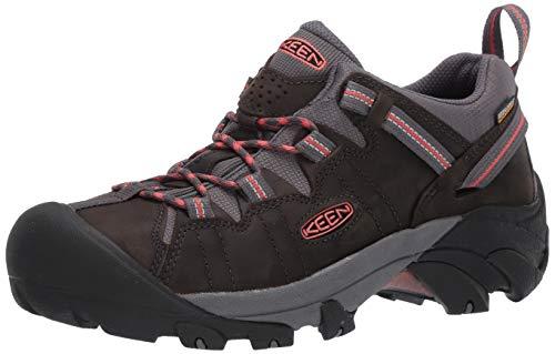 KEEN Women's Targhee 2 Low Height Waterproof Hiking Shoe, Magnet/Coral, 11 M (Medium) US