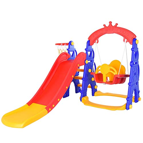 Xuways Slide and Swing Set Sports Equipment Learning Toys Gift Toys for Kids Boys Girls for Indoor and Backyard