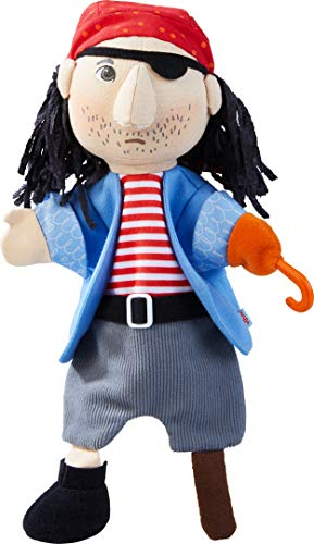 HABA 304254 - Handpuppe Pirat, weiche Piratenpuppe für erste Rollenspiele und Puppentheater, Spielzeug ab 18 Monaten