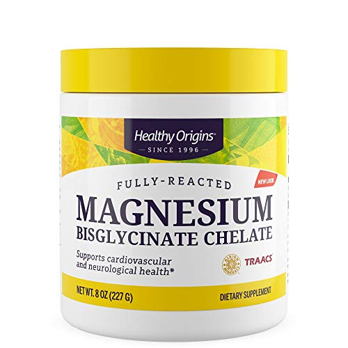 Healthy Origins Magnesium Bisglycinate Chelate - 8 oz (227 g) - vegan - glutenfrei - sojafrei, 1647692